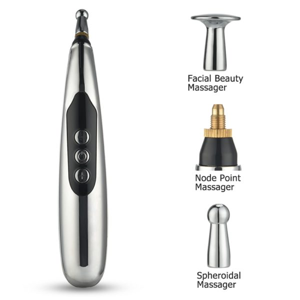 Massage Pen 9 Levels Electronic Meridian Acupuncture Energy Pen Laser Pulse Therapy Pain Relief Massager Pen Health Care