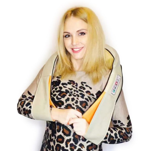 3D kneading Shiatsu Infrared Heated Kneading Car/Home Massagem Cervical Back Neck Massager Shawl Device Shoulder Massager