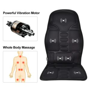 Electric Full-Body Vibratiion Massage Cushion Infrared Heating Chair Pad Home Car Office Seat Warm Vibrator Back Pain Relief
