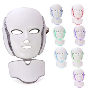 7 Colors Led Facial Mask Rejuvenation Photon Therapy Anti-againg Machine Light Therapy Acne Neck Skincare Mask Skin Mouisture