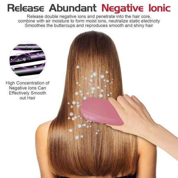 New Version Ionic Hairbrush Potable Negative Ions Dropshipping Niche Product Electric Massage Hairbrush Anti-static Hair Brush